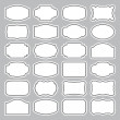 24 blank labels set (vector) - Stock Vector