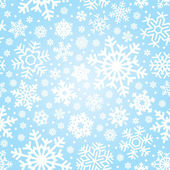 Seamless snowflakes pattern (vector) — Stock Vector