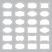 24 blank labels set (vector) — Vecteur