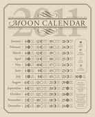 2011 lunar calendar, GMT (vector) — Stock Vector