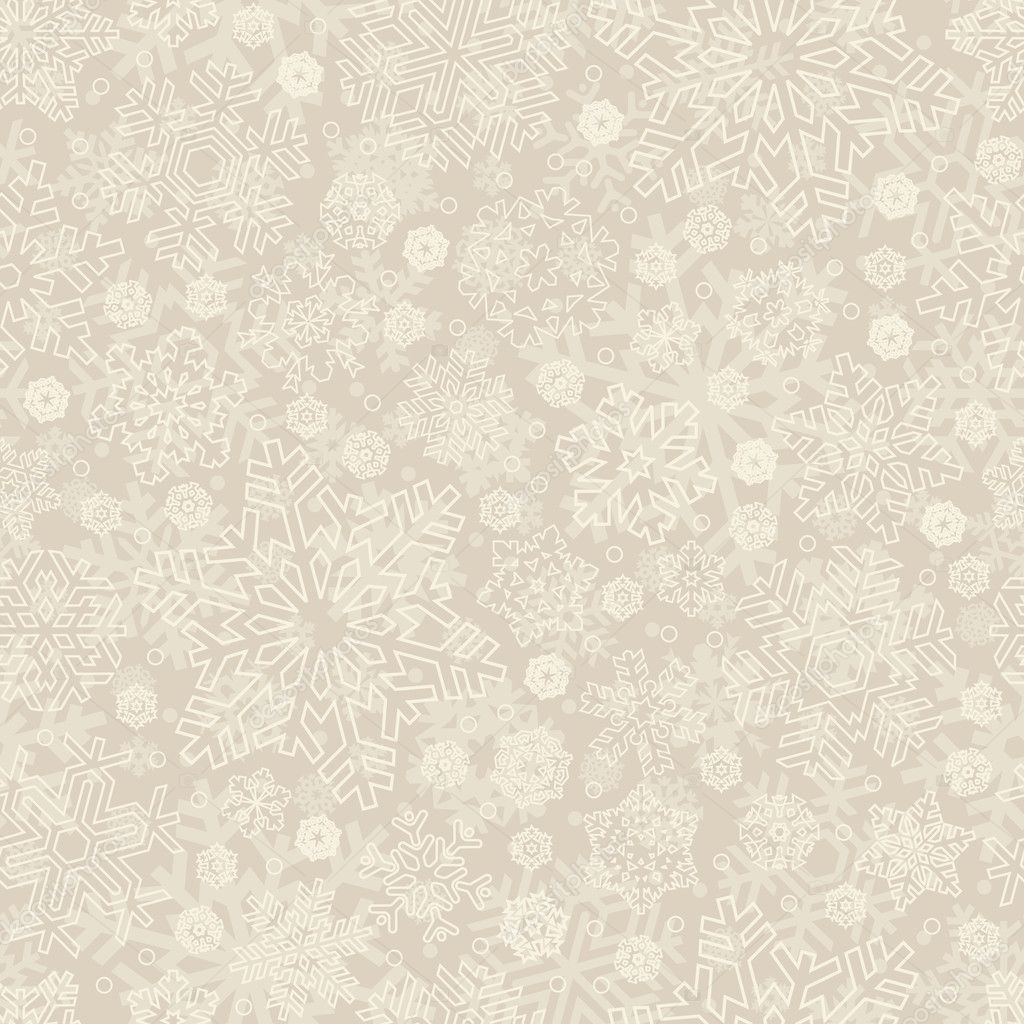 Seamless snowflakes pattern, perfectly tile-able both horizontally and vertically; scalable and editable vector illustration; — Stock Vector #5314240