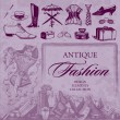 Antique fashion set (vector) - Stock Vector