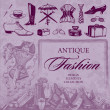 Royalty-Free Stock Imagen vectorial: Antique fashion set (vector)