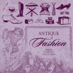 Antique fashion set (vector) — Stock Vector