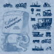 Royalty-Free Stock Vector Image: Antique transportation set (vector)