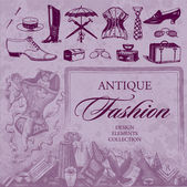 Antique fashion set (vector) — Stock Vector