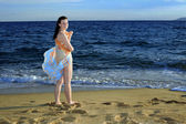 Attractive female at beach — Stock Photo