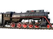 The old steam locomotive. — Stock Photo