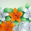 Stock Photo: Origami flowers