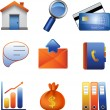 Stock Vector: 3D business web icons