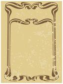 özet stil art-nouveau ilişkili satırları çerçevesinden — Stok Vektör
