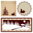Vintage Style background Christmas - Image vectorielle