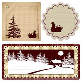 Vintage Style background Christmas — Vector de stock