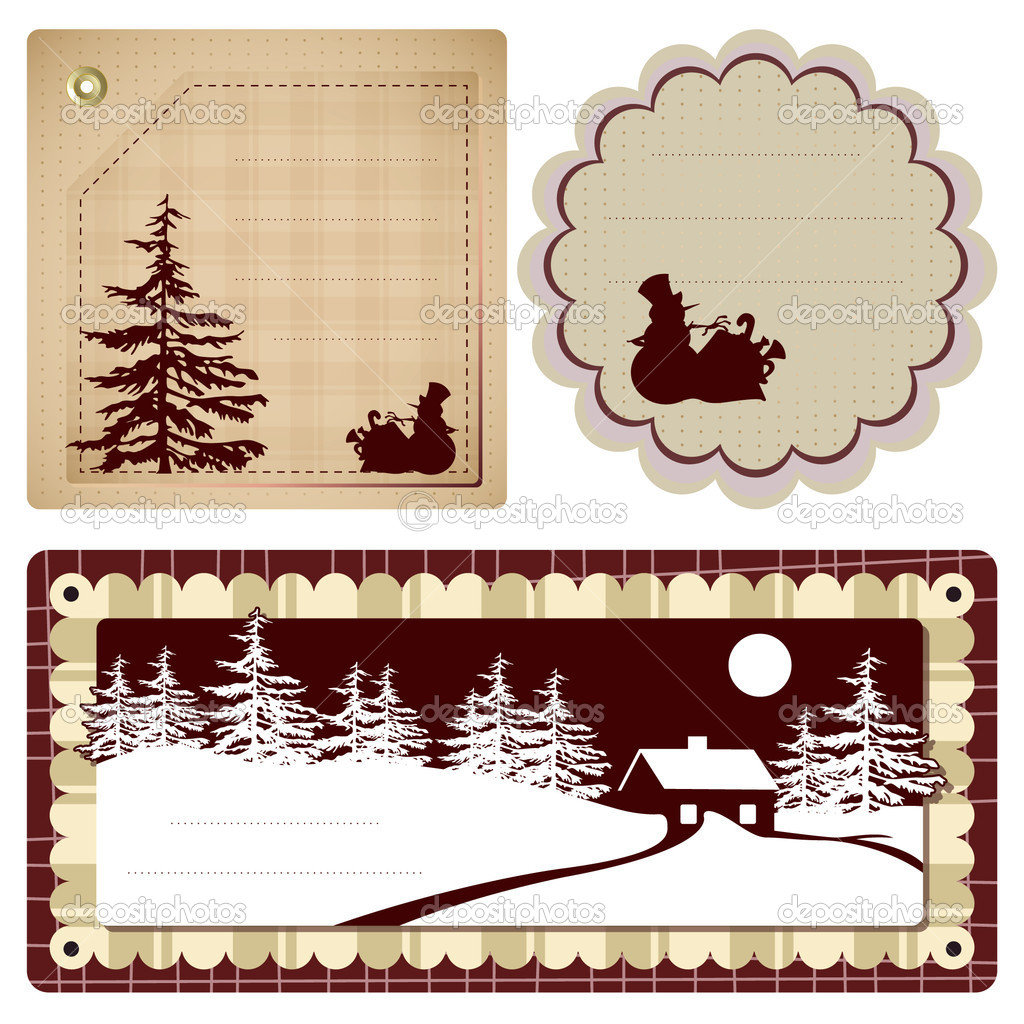 Vector vintage Style background Christmas and winter theme for decoration and design  Stock Vector #4190025