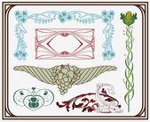 Treasures of art-nouveau design — Stock Vector