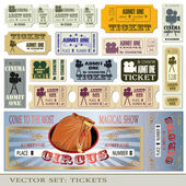 Tickets admit one — Vector de stock