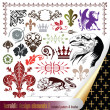 Elements for your heraldic design projects - Stock Vector