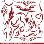 Set of tribal tattoo — Stock Vector