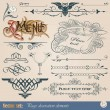 Royalty-Free Stock Vector Image: Calligraphic design elements and page decoration