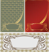 Abstract backgrounds in style art-nouveau — Stock Vector