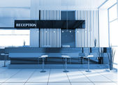 Reception in hotel — Stock Photo