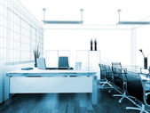 现代室内装饰的办公室 — 图库照片
