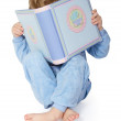Little child reading book. — Stock Photo #4672860