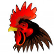 Stock Photo: Rooster head