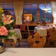 Stock Photo: Inside typical restaurant in Alto Adige