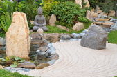 Small japanese garden — Stock Photo