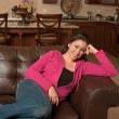 Foto Stock: Relaxing at Home