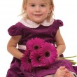 Child With Flowers — Stock Photo #4970229