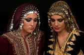 Traditional Dress and Make Up — Stock Photo