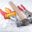 Assorted Tools on diagram — Stock Photo