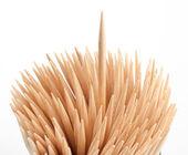 Toothpick macro — Stock Photo