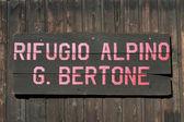 Rifugio bertone - furetto val — Foto Stock