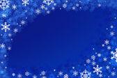 Dark blue snowflake background. — Stock Photo
