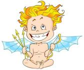 Funny cupid — Stock Photo