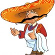 Mexican chief with thumb up. - Stock Photo