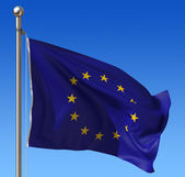 Flag of Europe Union against blue sky — Stock Photo