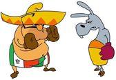 Boxe mexicano com burro 2 — Foto Stock