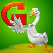 G is for goose. — Stock Photo