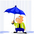 Businessman under umbrella — Lizenzfreies Foto