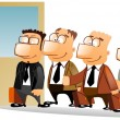 Business standing in queue. — Stock Photo #5178333