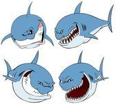 Shark set. — Stock Photo