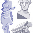 Ancient Greek statues. - Stock Photo
