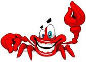 Caranguejo feliz. — Foto Stock