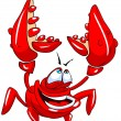 Stock Vector: Funny crab.