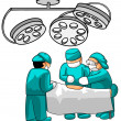 Stock Photo: Surgeons in operative room