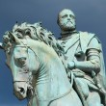Equestrian statue of Cosimo I de' Medici on the Piazza della Signoria, by Giambologna. Florence, Italy. — Stock Photo #4501719